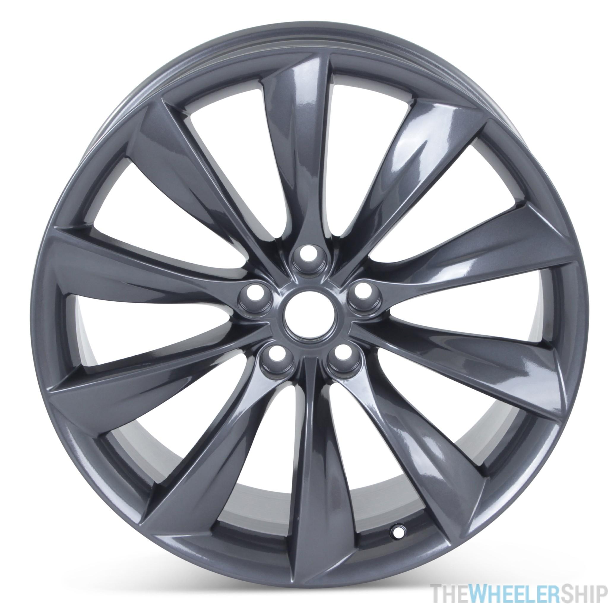 Tesla Model S 2012-2017 98727 aluminum OEM wheel rim 21 x 8.5 Silver