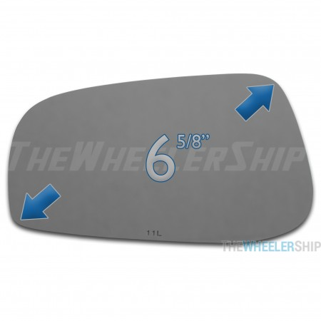 New Mirror Glass Replacements For Volvo S60 S80 2004-2006 Driver Left Side 4127