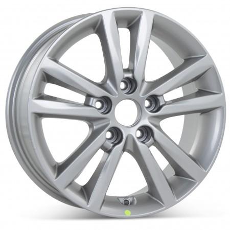 "New 16"" x 6.5"" Alloy Replacement Wheel for Hyundai Sonata 2015 2016 Silver Rim 70866"