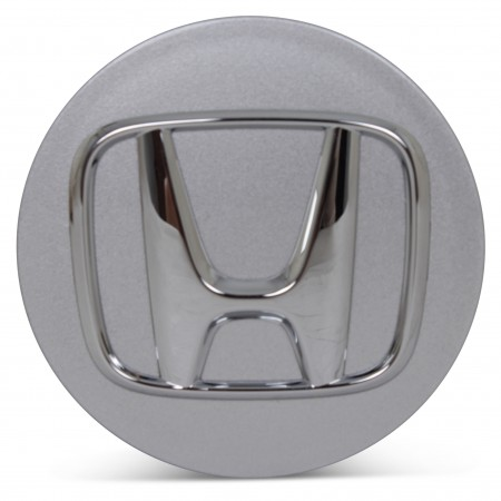 OE Genuine Honda Silver Center Cap with Chrome Logo CAP3667