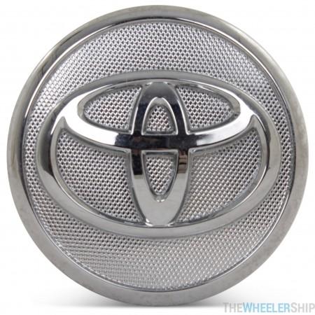 OE Genuine Toyota Corolla Matrix Prius Silver/Chrome Center Cap with Chrome Logo 42603-02220 CAP8499