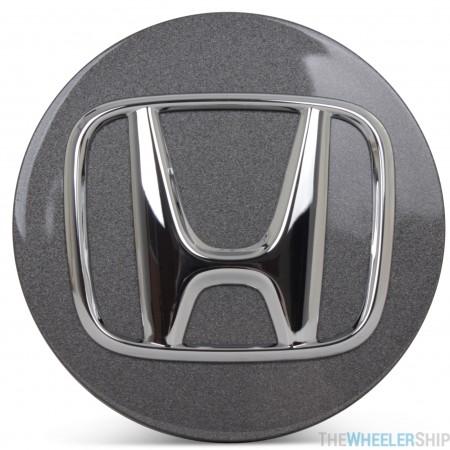 OE Genuine Honda Charcoal Center Cap with Chrome Logo CAP2407
