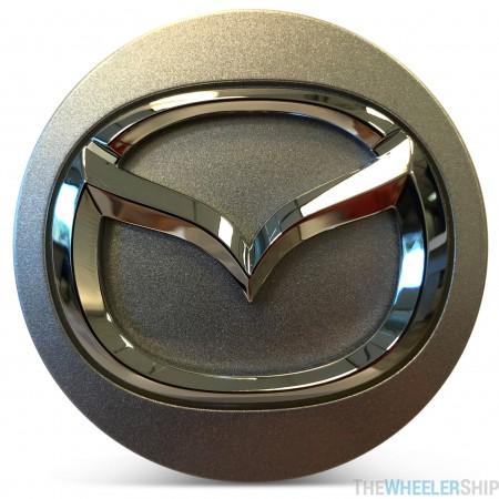 OE Genuine Mazda Center Cap Silver with Chrome Logo CAP8553