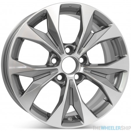 """New 17"""" Replacement Wheel for Honda Civic 2012 2013 2014 Machined w/ Charcoal Rim 64025"""