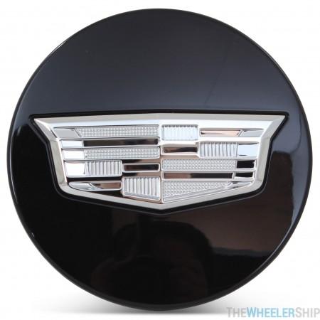 OE Genuine Cadillac Center Cap Black W/ Chrome Crest 23491827 for Escalade Fits multiple wheels CAP7030