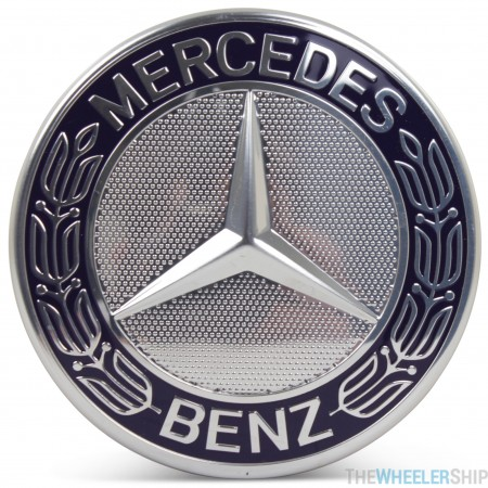 OE Genuine Mercedes Center Cap Blue Wreath CAP9440