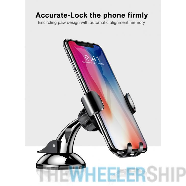 Baseus Dashboard Gravity Car Phone Mount Holder Black/Silver for Universal Smartphone