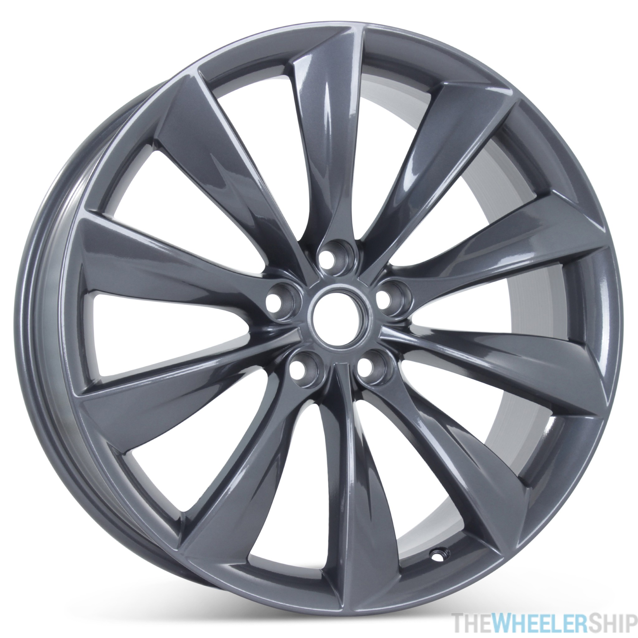 New 21 X 85 Front Wheel For Tesla Model S 2012 2013 2014 2015 2016 2017 Gray Rim 98727