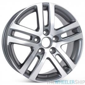 "New 16"" Alloy Wheel for Volkswagen Jetta VW 2005 2006 2007 2008 2009 2010 2011 2012 2013 2014 2015 2016 2017 Machined with Charcoal Rim 69812"