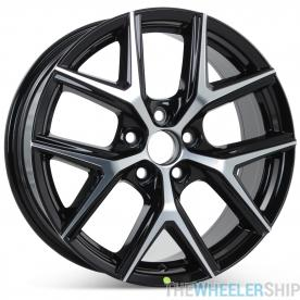 """New 18"""" x 7.5"""" Alloy Replacement Wheel for Toyota Rav4 2016 2017 2018 Machined w/ Black Rim 75201"""