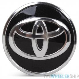 OE Genuine Toyota Corolla Prius Black Center Cap with Chrome Logo CAP6423