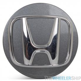 OE Genuine Honda Accord 2018 2019 2020 Light Charcoal Center Cap w/ Chrome Logo CAP5143