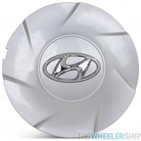 OE Genuine Hyundai Silver Center Cap W/ Chrome Logo  Hub Cap CAP7965