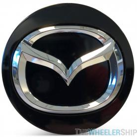 OE Genuine Mazda Center Cap Black with Chrome Logo CAP7333