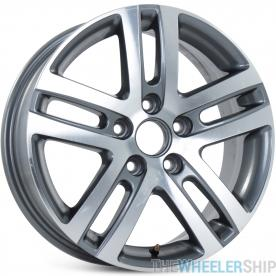 "16"" Alloy Replacement Wheel for Volkswagen Jetta VW 2005-2015 Machined Charcoal Rim 69812 Open Box"