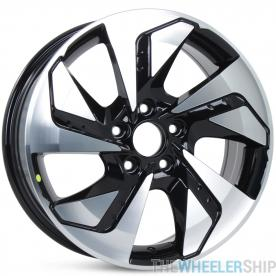"Set of 4 New 17"" Wheels Aftermarket for Honda Civic Rims Machined and Black"