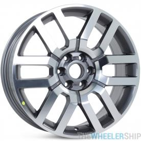 "Set of 4 New 18"" Aftermarket Wheels for Nissan Frontier Pathfinder Rims Machined and Charcoal"