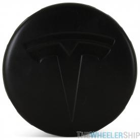 OE Genuine Tesla Center Cap W/ Tesla Logo Black CAP6666
