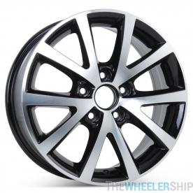 "New 16"" Alloy Replacement Wheel for Volkswagen Jetta 2016 2017 2018 Sedona Black Rim 70008"