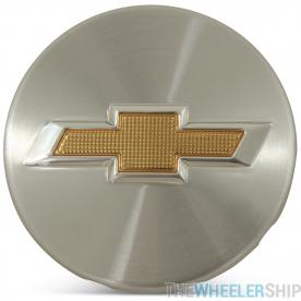 OE Genuine Chevrolet Cruze Sonic Volt 2011- 2017 Center Cap Silver W/ Gold Logo CAP0012