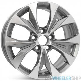 "New 17"" Replacement Wheel for Honda Civic 2012 2013 2014 Machined w/ Charcoal Rim 64025"
