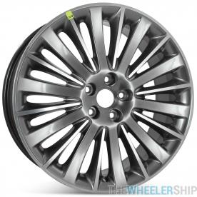 "Brand New 19"" x 8"" 2013 2014 2015 2016 Lincoln MKZ Factory OEM Wheel Polished W/ Charcoal Rim 3955"