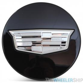 OE Genuine Cadillac Center Cap Black W/ Chrome Crest 23491827 for Escalade Fits multiple wheels CAP7030