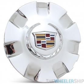 OE Genuine Cadillac Center Cap Colored Crested W/ Chrome 22906845 for Escalade Fits wheel 4737 CAP7050