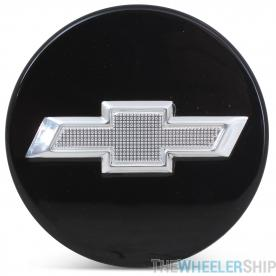 OE Genuine Chevrolet Camaro Impala Malibu Volt Equinox 2010-2019 Center Cap Black W/ Chrome Logo 9594156/22791586