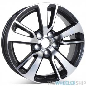 """New 17"""" x 7"""" Alloy Replacement Wheel for Toyota Rav4 2016 2017 Machined W/ Charcoal Rim 75198"""