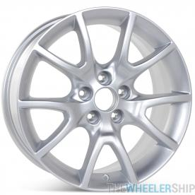 "New 17"" x 7.5"" Alloy Replacement Wheel for Dodge Dart 2013 2014 2015 2016 Silver Rim 2481"