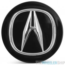 OE Genuine Acura Black Center Cap with Chrome Logo CAP9917