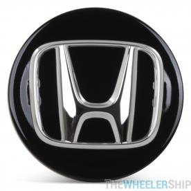 OE Genuine Honda Center Cap Black with Chrome Logo CAP6089