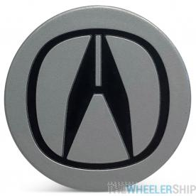 OE Genuine Acura Silver Center Cap with Black Logo CAP8870