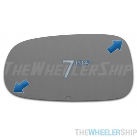 New Mirror Glass Replacements For Saab 9-3 9-5 2003-2011 Driver Left Side LH