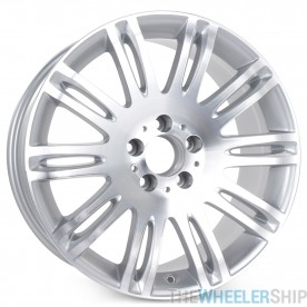 "New 18"" x 8.5"" Alloy Replacement Wheel for Mercedes E350 E550 2007 2008 2009 Rim 65432 Machined W/ Silver"