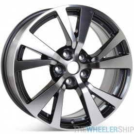 """New 18"""" Alloy Replacement Wheel for Nissan Maxima 2016 2017 2018 Machined w/ Charcoal Rim 62721"""