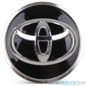 OE Genuine Toyota RAV 4 Camry Highlander Black Center Cap with Chrome Logo CAP4683