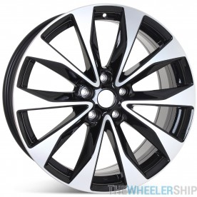"New 19"" Alloy Replacement Wheel for Nissan Maxima 2018 2019 2020 Machined w/ Black Rim 62723"
