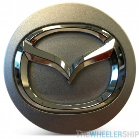 OE Genuine Mazda Center Cap Silver with Chrome Logo CAP8553