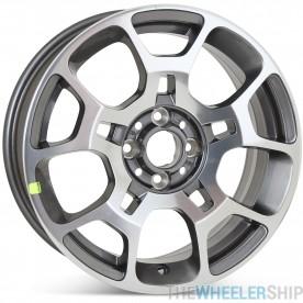 "Brand New 16"" x 6.5"" Fiat 500 2012 2013 2014 2015 2016 Factory OEM Wheel Machined W/ Charcoal Rim 61663"