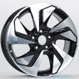 """Set of 4 New 17"""" Aftermarket Honda Civic Toyota Camry Wheels Rims Machined and Black"""