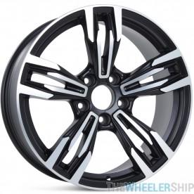 "Set of 4 New 18"" Aftermarket BMW, Acura, Lexus, Pontiac, SAAB Wheels Rims Machined with Black"