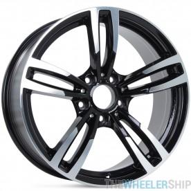 """Set of 4 New 18"""" x 8"""" BMW Acura Lexus Pontiac Wheels  Machined with Black Rim"""