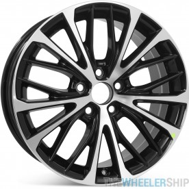 """New 18"""" x 8"""" Replacement Wheel for Toyota Camry SE Hybrid SE 2018 2019 2020 Rim 75221 Machined W/ Black"""