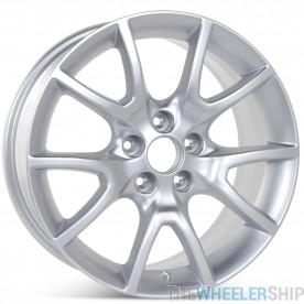 """New 17"""" x 7.5"""" Alloy Replacement Wheel for Dodge Dart 2013 2014 2015 2016 Silver Rim 2481"""