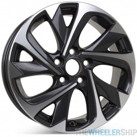 """New 17"""" x 7"""" Replacement Wheel for Scion iM 2016 Toyota Corolla iM 2017 2018 Machined W/ Charcoal Rim 75183"""