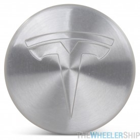 OE Genuine Tesla Center Cap W/ Tesla Logo Silver CAP4228
