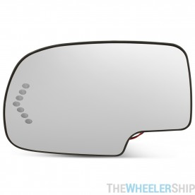 Mirror Glass and Heated Backplate for Chevrolet GMC Truck Left Drivers Side Power Turn Signal