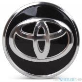 OE Genuine Toyota Corolla Prius Black Center Cap with Chrome Logo CAP6423